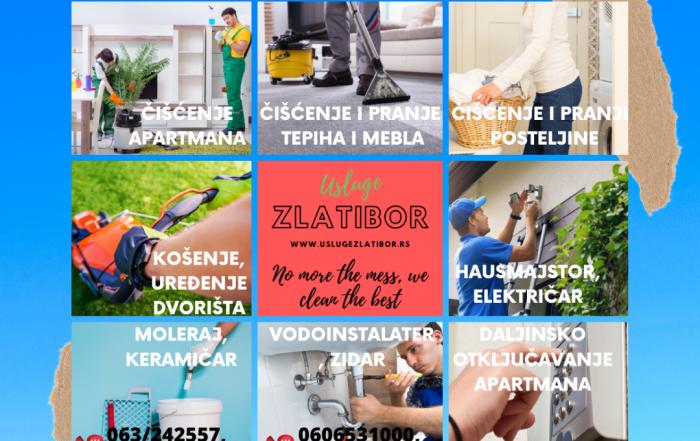 Potrebno čišćenje apartmana Zlatibor cenovnik