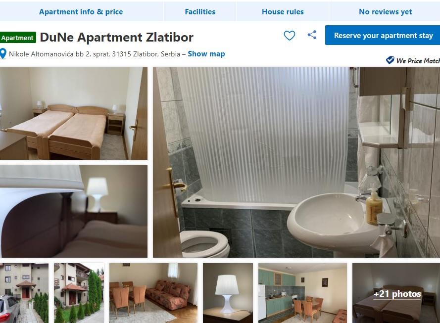 Apartmani DuNe Usluge Zlatibor