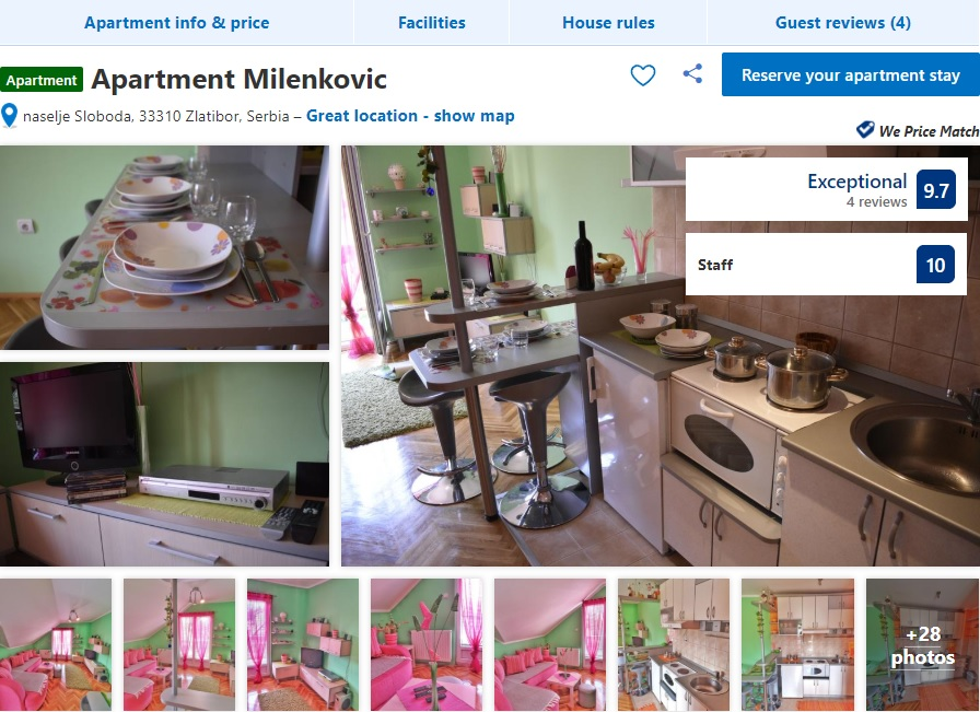 Apartmani Milenkovic Usluge Zlatibor