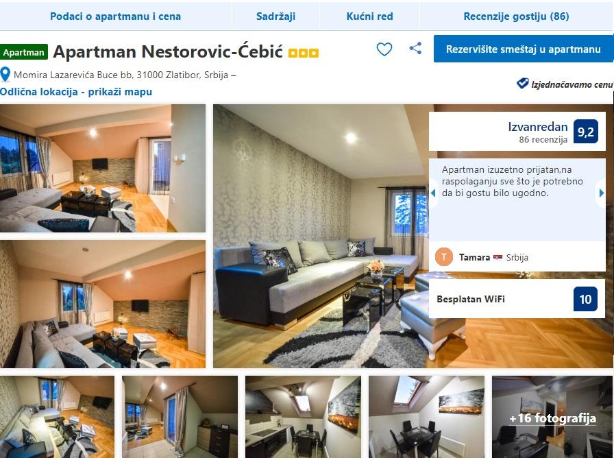 Apartmani Nestorovic Usluge Zlatibor