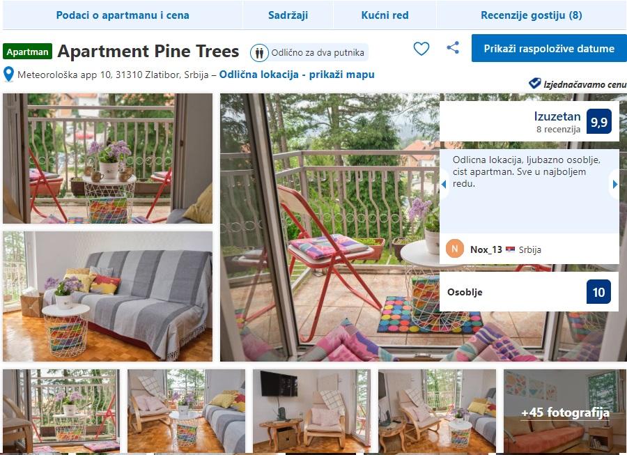 Apartmani PINE TREES Usluge Zlatibor