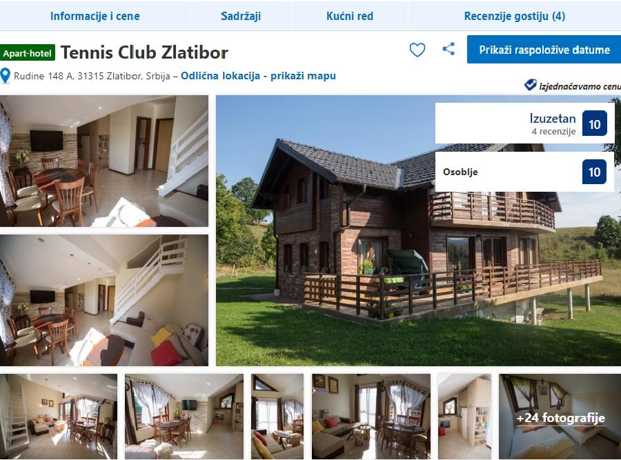 Apartmani TENIS CLUB Usluge Zlatibor