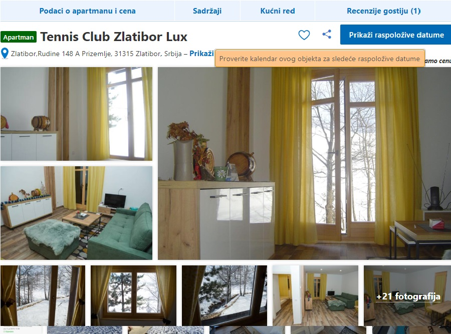 Apartmani TENIS Usluge Zlatibor
